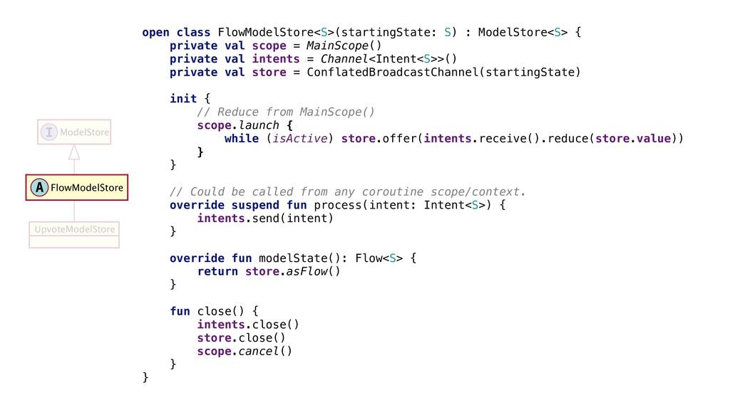 open class FlowModelStore<S>(startingState: S) ...