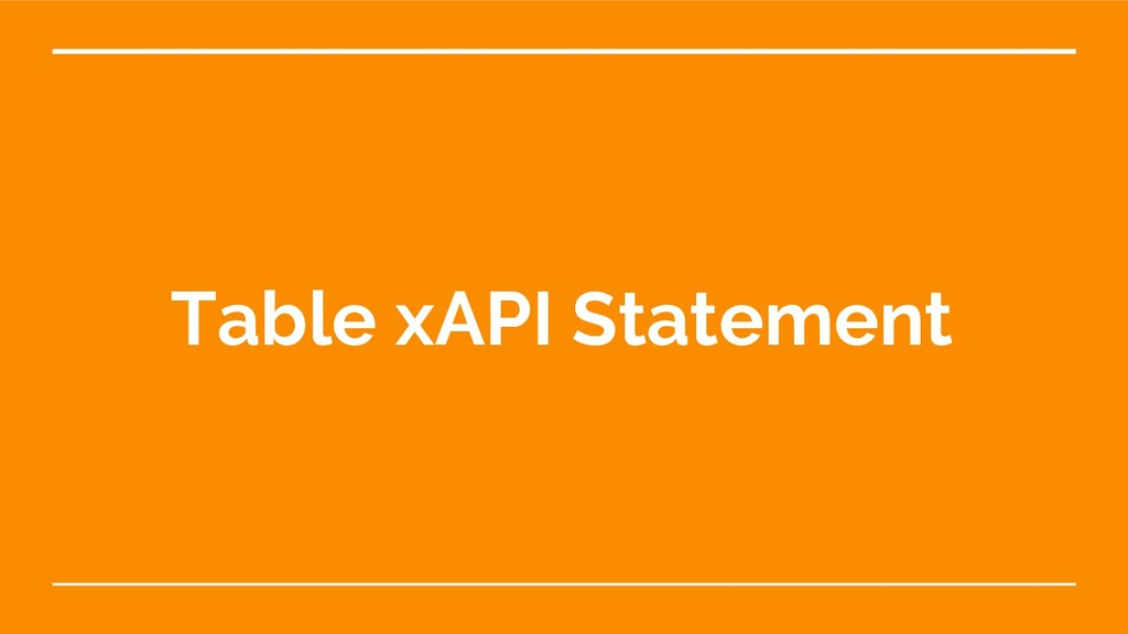 Table xAPI Statement