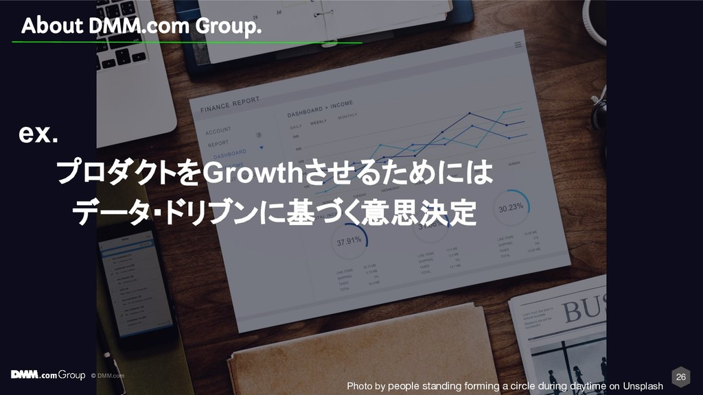 © DMM.com 26 About DMM.com Group. ex. プロダクトをGro...