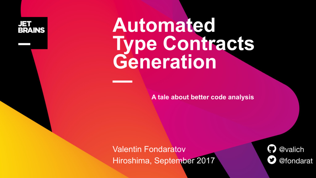 Automated Type Contracts Generation — Valentin...