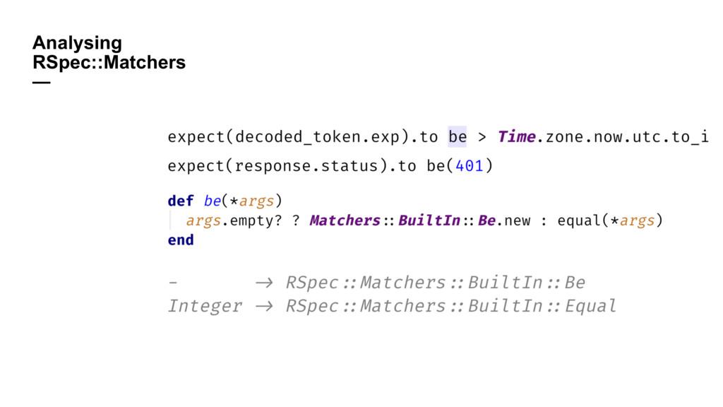 Analysing RSpec::Matchers —