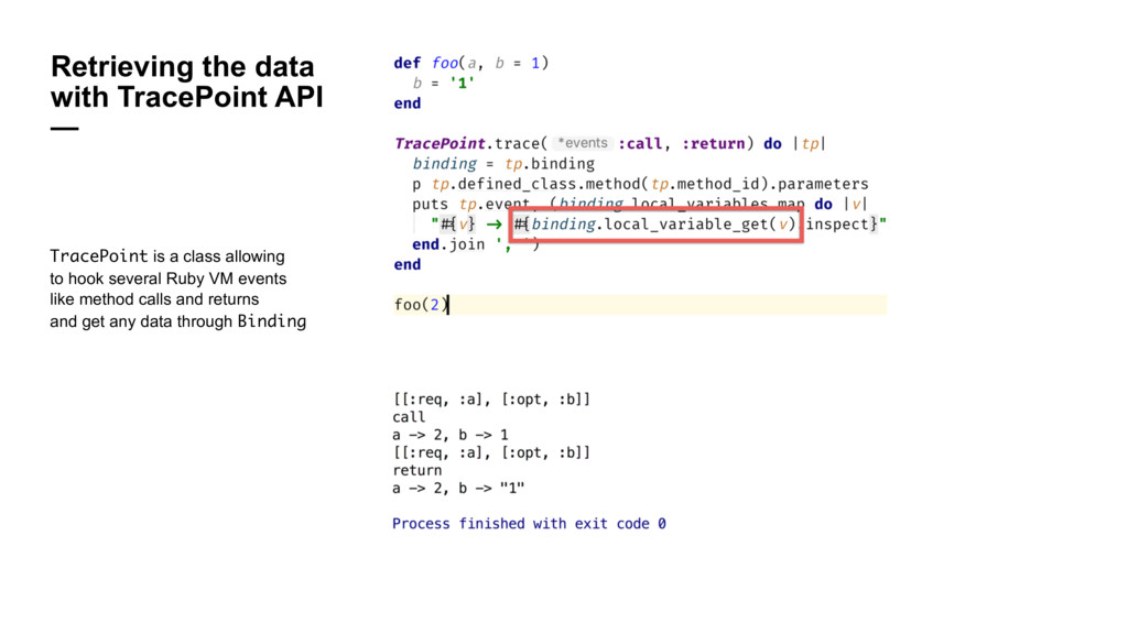Retrieving the data with TracePoint API — Trace...