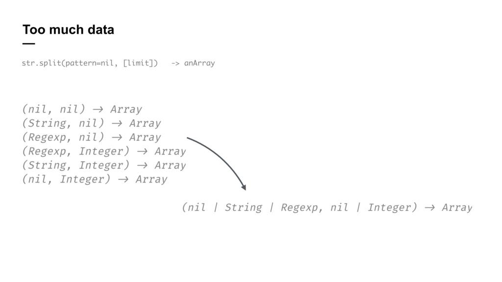 Too much data — str.split(pattern=nil, [limit])...