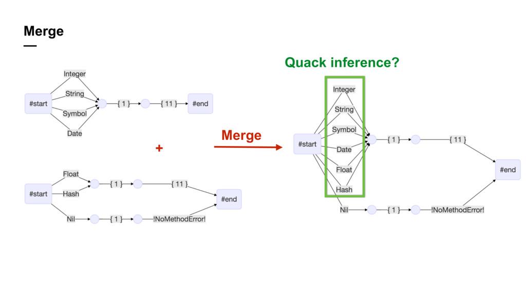 Merge — + Merge Quack inference?