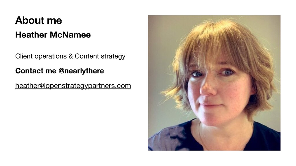 Heather McNamee Client operations & Content str...