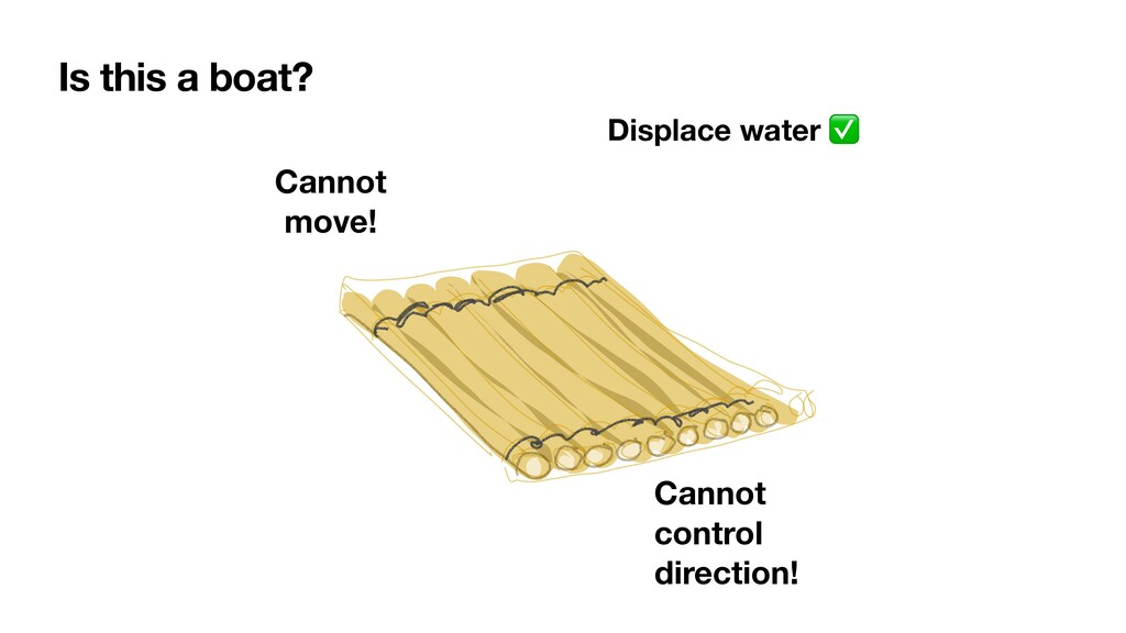 Is this a boat? Displace water ✅ Cannot move! C...