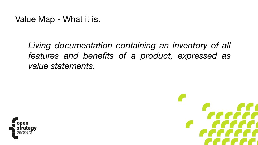 Living documentation containing an inventory of...