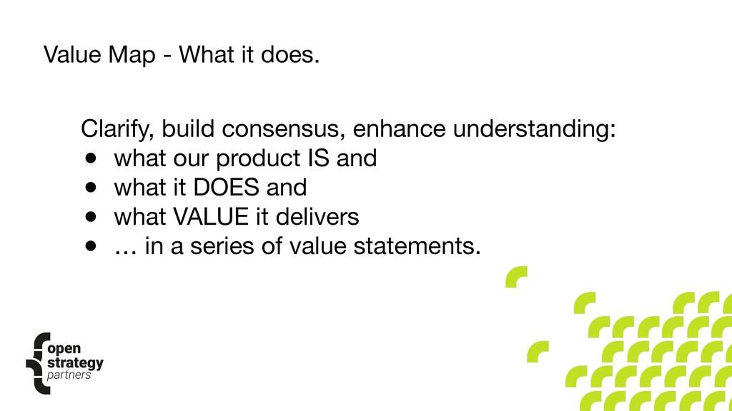 Clarify, build consensus, enhance understanding...