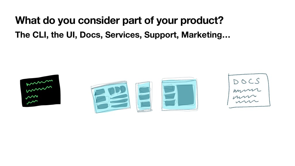 What do you consider part of your product? The ...
