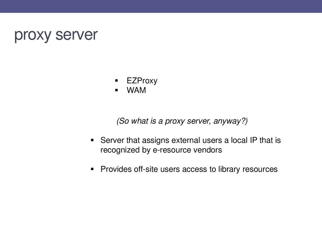 (So what is a proxy server, anyway?)  Server t...