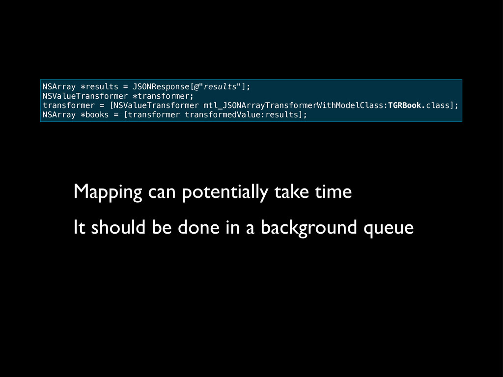Mapping can potentially take time It should be ...