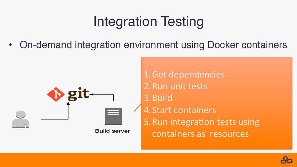 • On-demand integration environment using Dock...