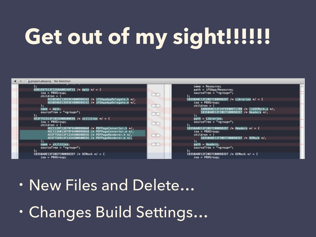 Get out of my sight!!!!!! ɾNew Files and Delete...