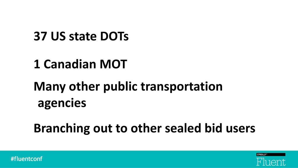 37 US state DOTs 1 Canadian MOT Many other publ...