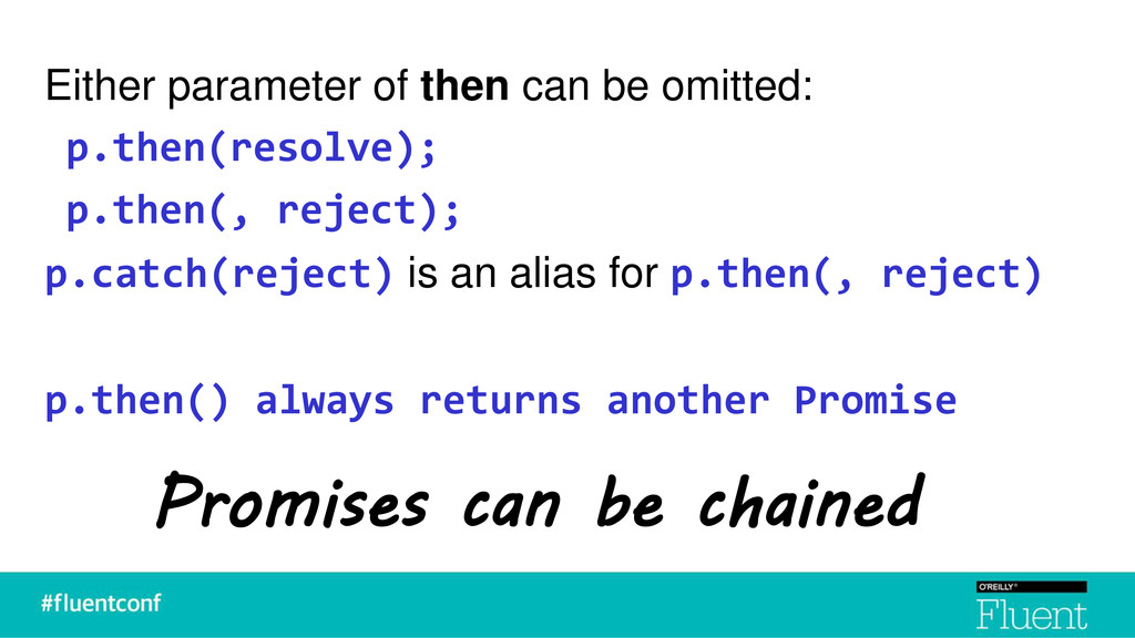 Either parameter of then can be omitted: p.then...
