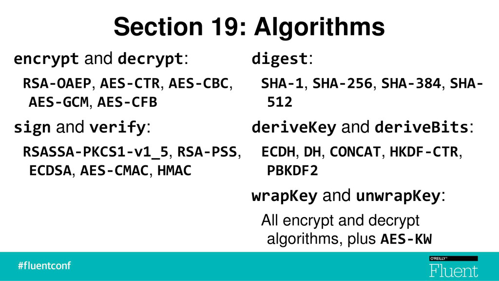 Section 19: Algorithms encrypt and decrypt: RSA...