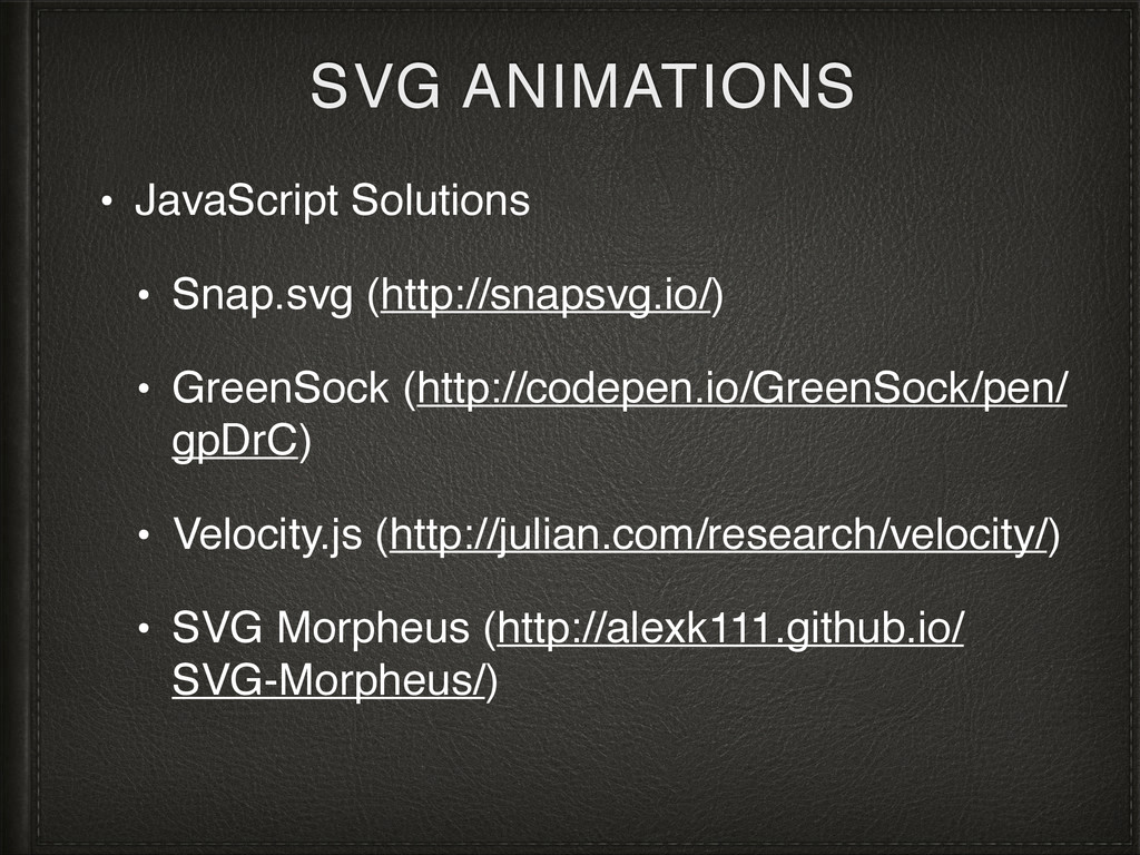 SVG ANIMATIONS • JavaScript Solutions • Snap.sv...