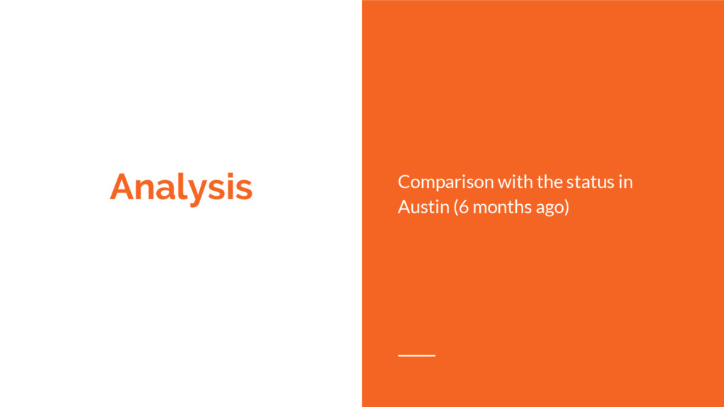 Analysis Comparison with the status in Austin (...