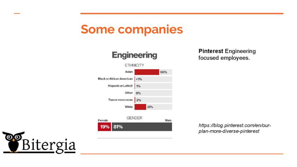 Some companies Pinterest Engineering focused em...
