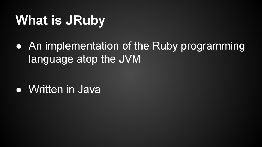 ● An implementation of the Ruby programming lan...