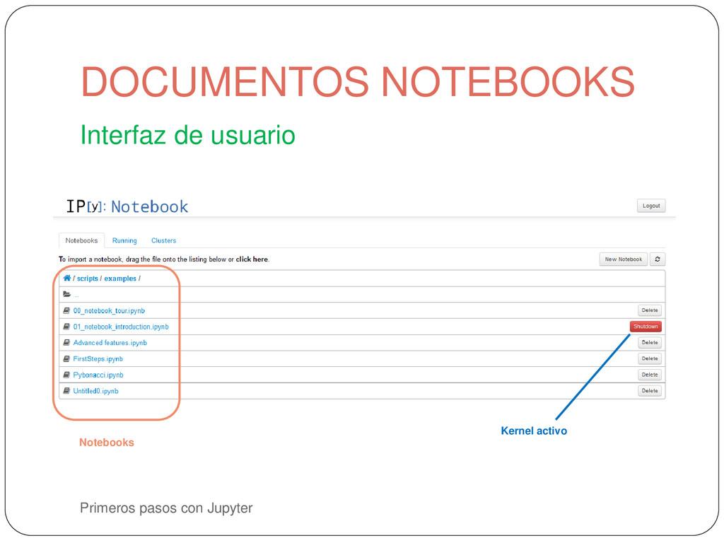 Primeros pasos con Jupyter Interfaz de usuario ...