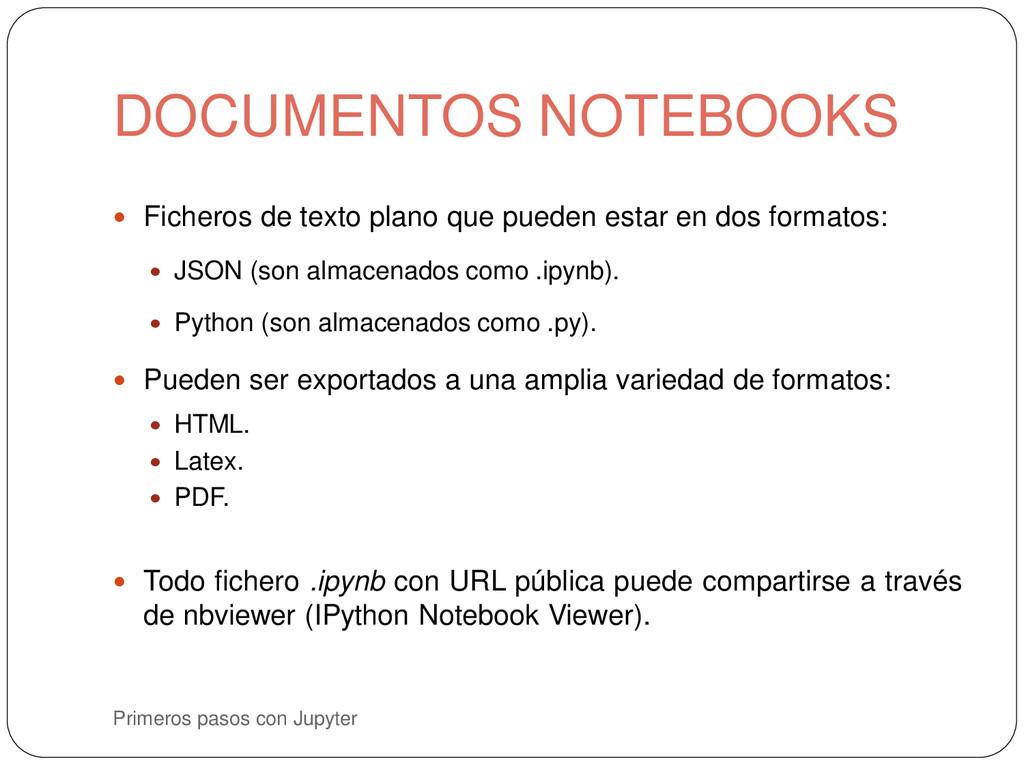 Primeros pasos con Jupyter  Ficheros de texto ...