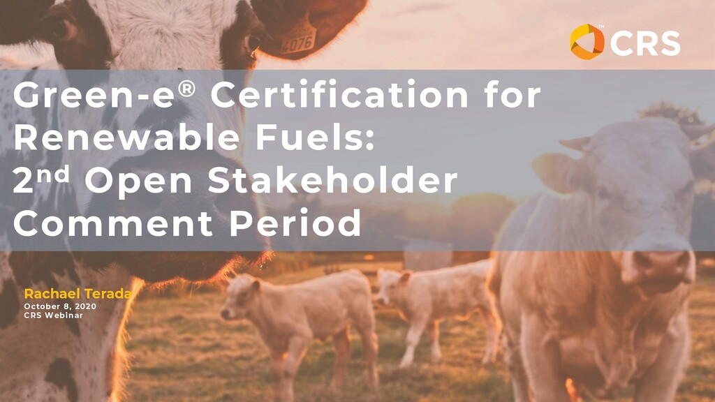 Green-e® Certification for Renewable Fuels: 2nd...