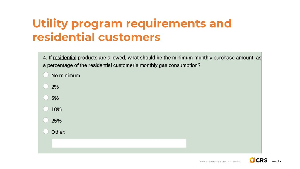 Utility program requirements and residential cu...