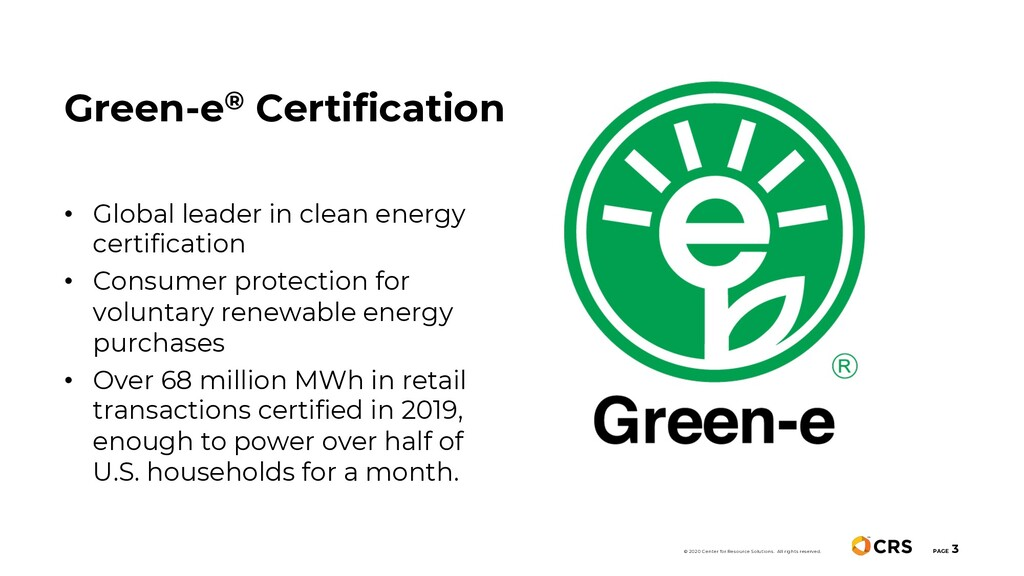 PAGE 3 • Global leader in clean energy certific...