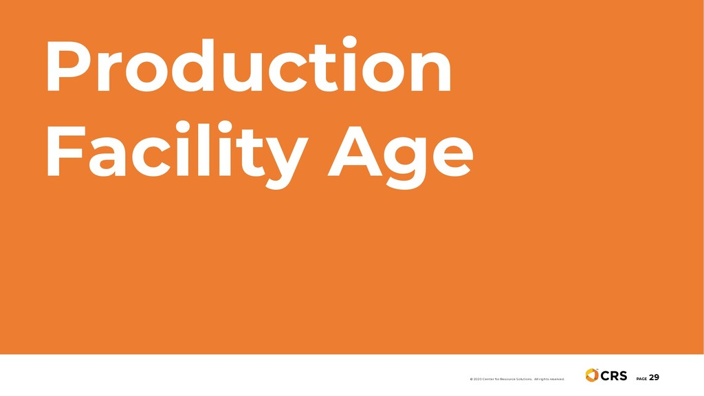 Production Facility Age PAGE 29 © 2020 Center f...