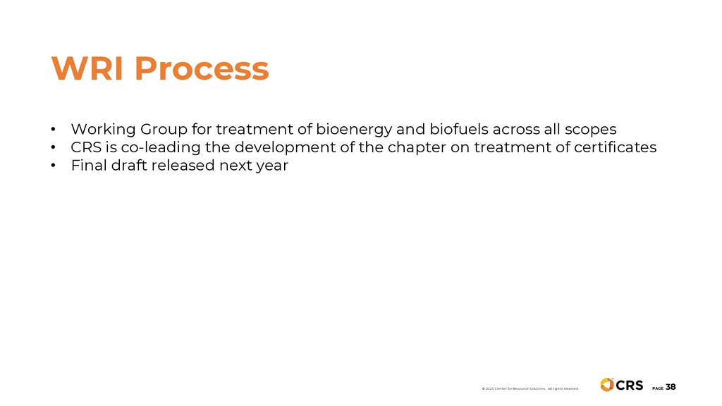 • Working Group for treatment of bioenergy and ...