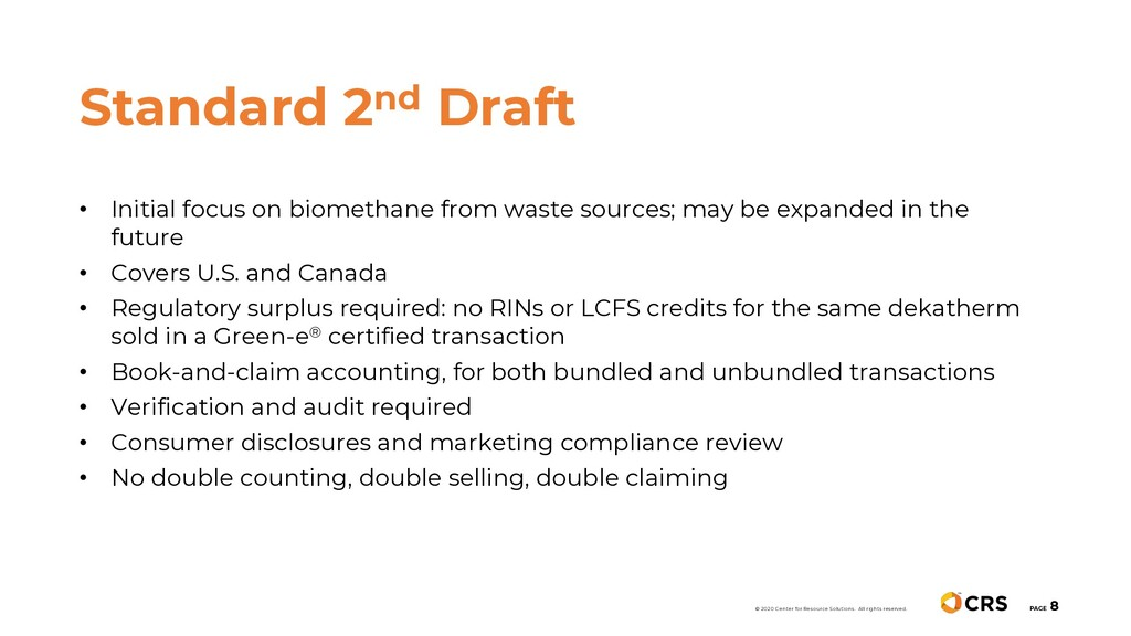 • Initial focus on biomethane from waste source...