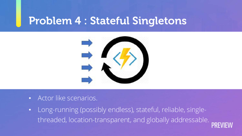 Problem 4 : Stateful Singletons • Actor like sc...