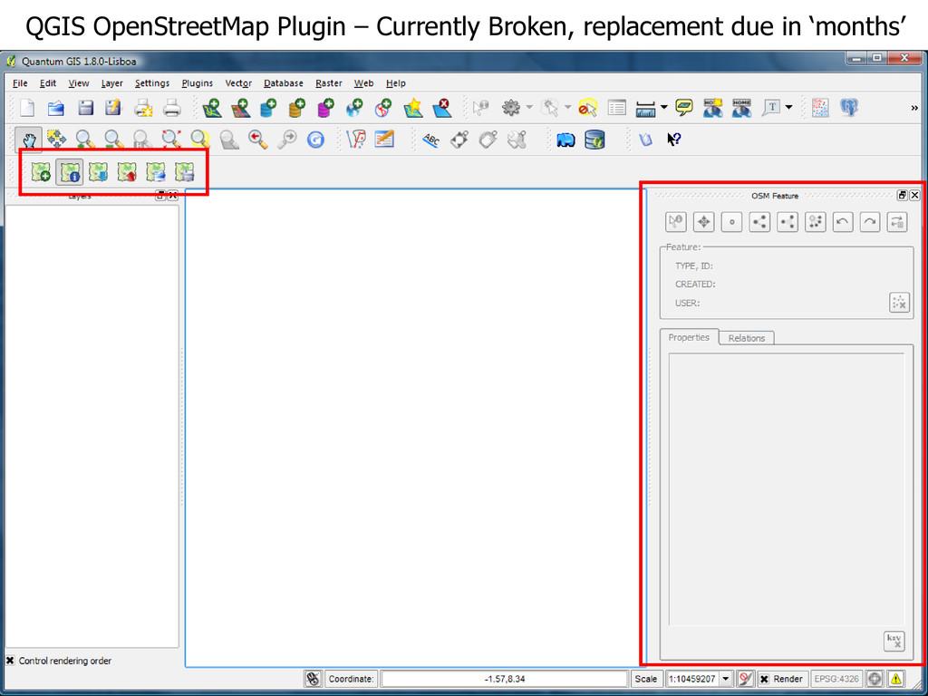 QGIS OpenStreetMap Plugin – Currently Broken, r...