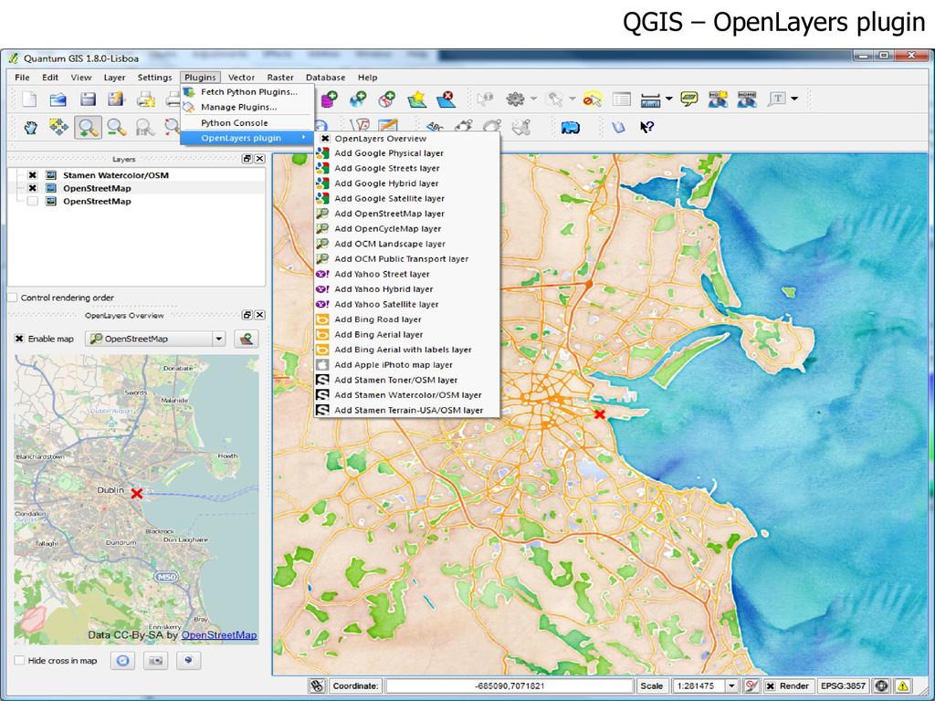 QGIS – OpenLayers plugin