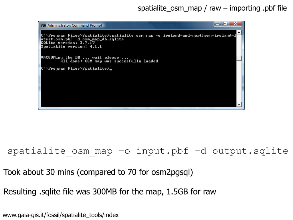 spatialite_osm_map / raw – importing .pbf file ...