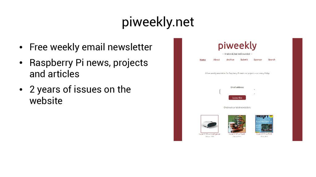 piweekly.net ● Free weekly email newsletter ● R...