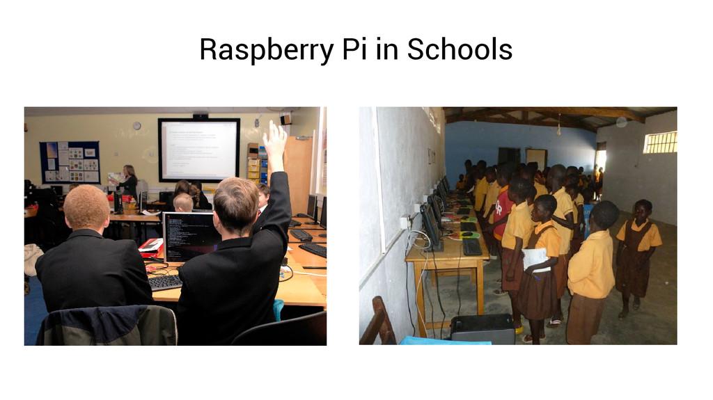 Raspberry Pi in Schools
