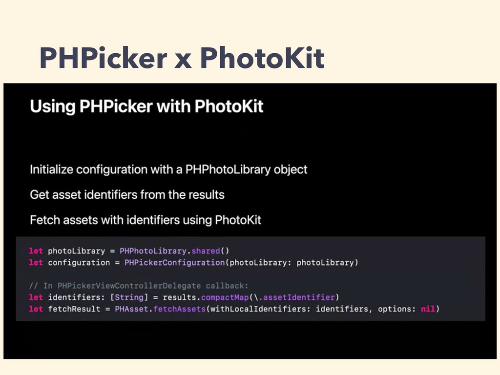 PHPicker x PhotoKit