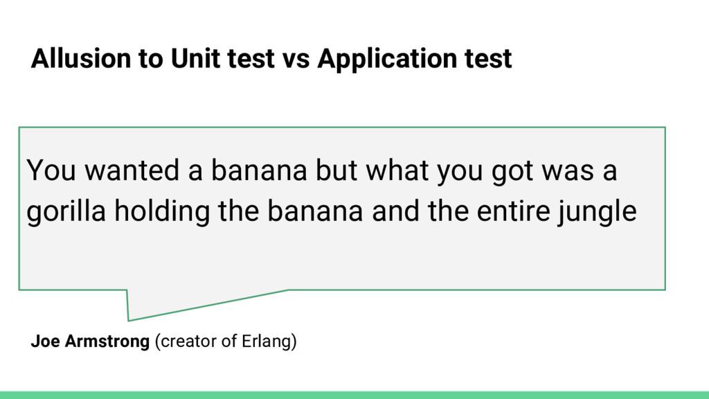 You wanted a banana but what you got was a gori...