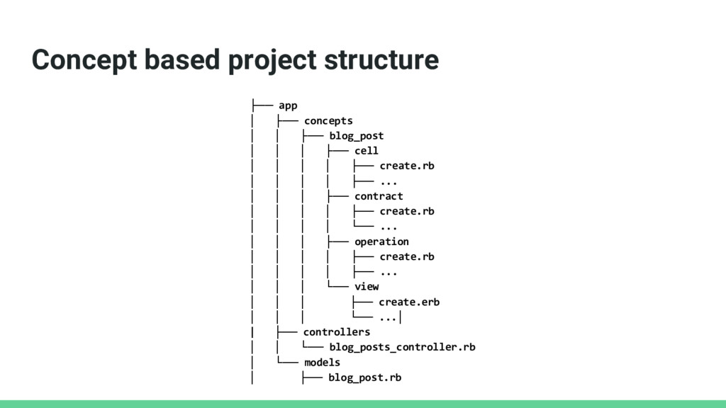 Concept based project structure ├── app │ ├── c...