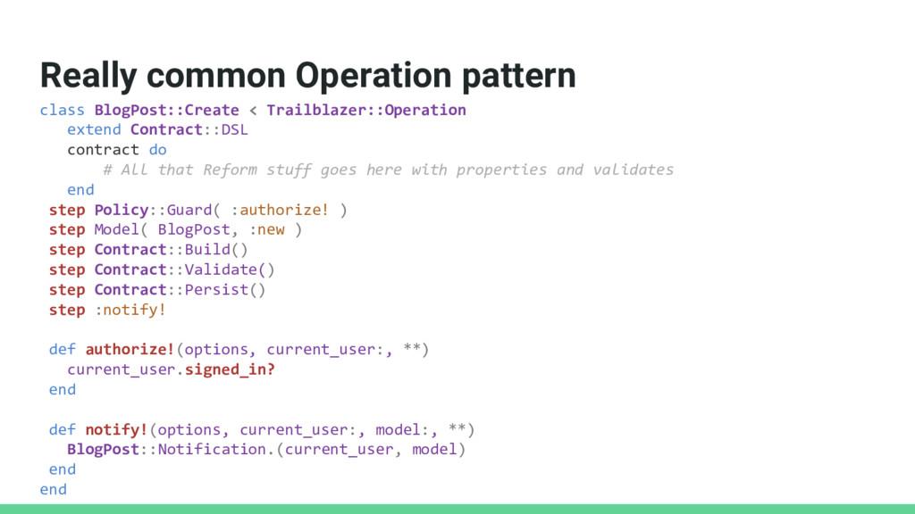 Really common Operation pattern class BlogPost:...