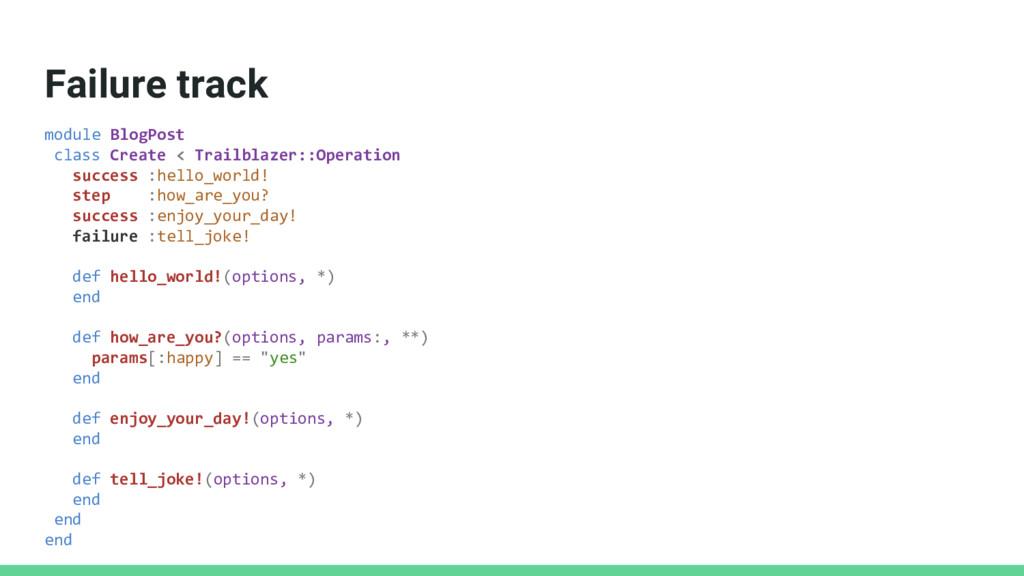 Failure track module BlogPost class Create < Tr...