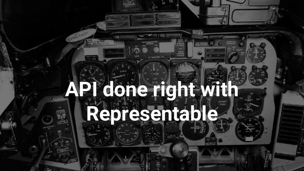 API done right with Representable