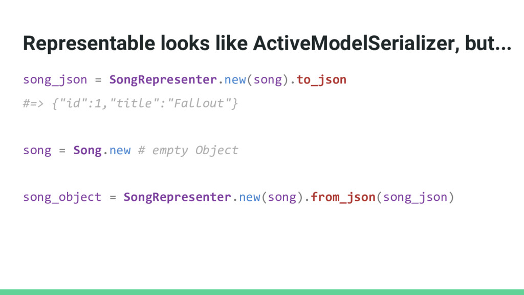 Representable looks like ActiveModelSerializer,...
