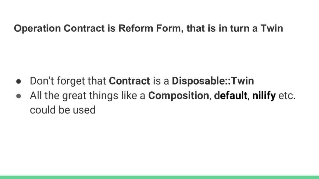 Operation Contract is Reform Form, that is in t...