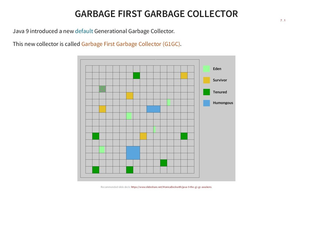 GARBAGE FIRST GARBAGE COLLECTOR Java 9 introduc...