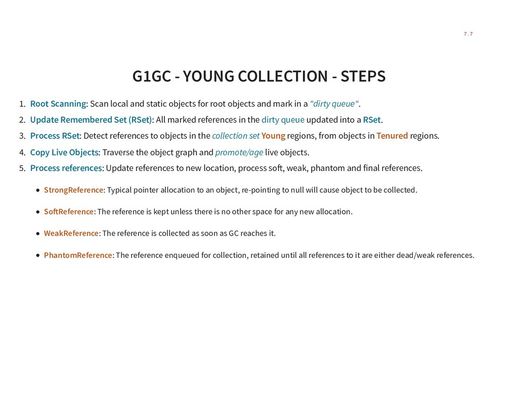 G1GC - YOUNG COLLECTION - STEPS 1. Root Scannin...