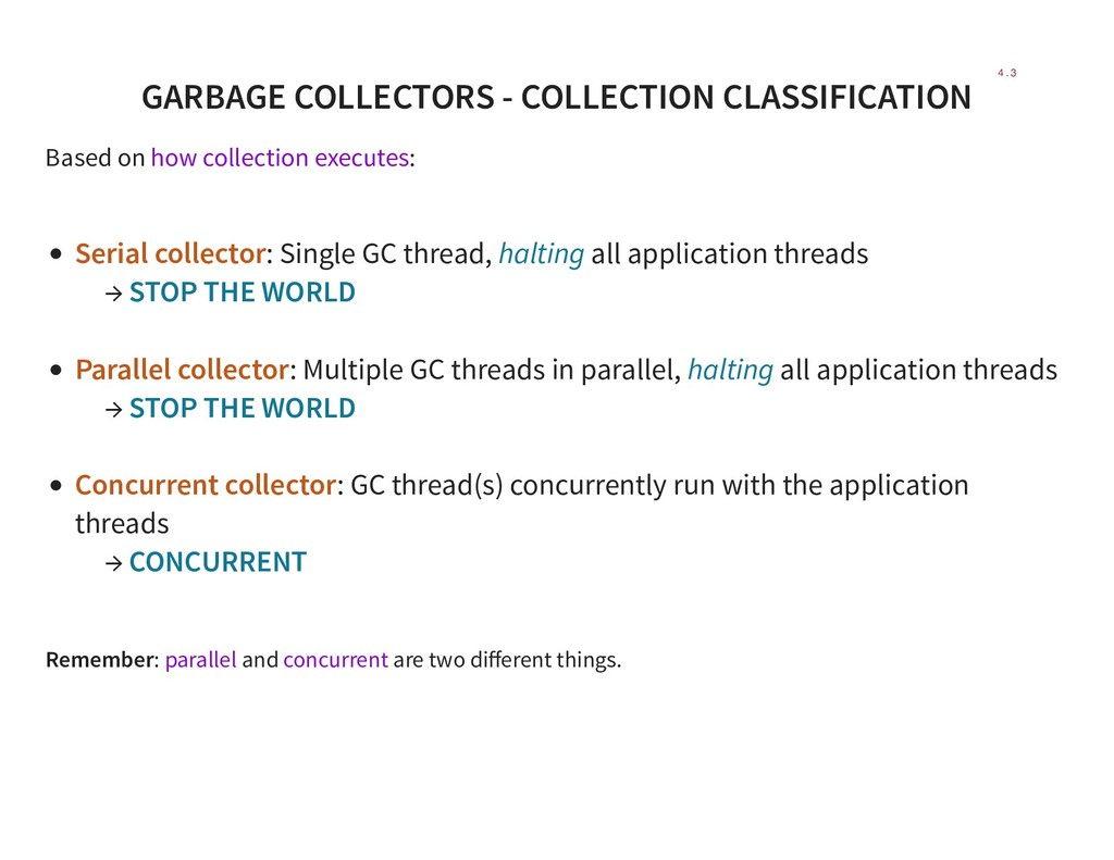 GARBAGE COLLECTORS - COLLECTION CLASSIFICATION ...