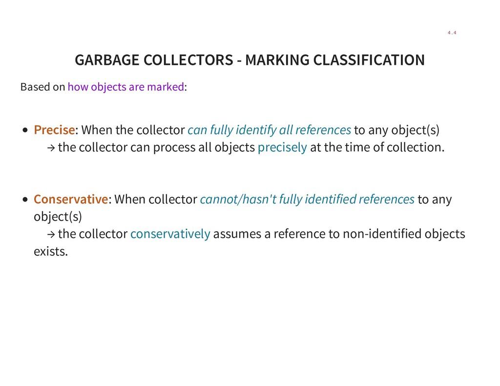 GARBAGE COLLECTORS - MARKING CLASSIFICATION Bas...